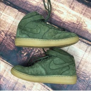 Nike Shoes - Nike Kids Air Force 1 Boys Green Shoes